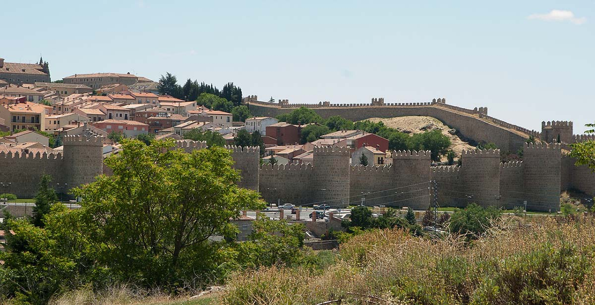 Avila, Spain walls around city