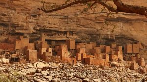 Dogon cliff dwellings in Bandiagara, Mali