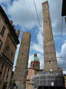 Due Torri, two towers of Bologna