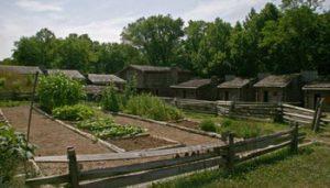 garden plots inside Fort Boonesborough