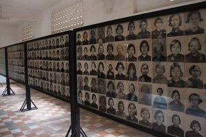 photos of genocide victims in Cambodia museum