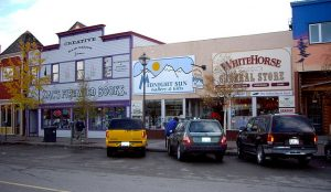 row of shops in Whitehorse