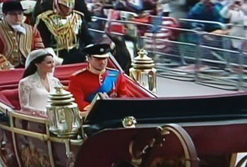 Kate and William in carriage