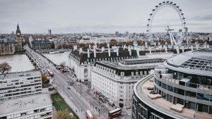 London skyline including the Eye