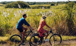 bicycling on Mauritius
