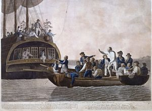Bounty mutiny illustration