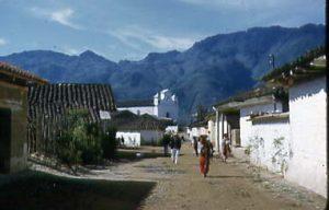 Nebaj street and church