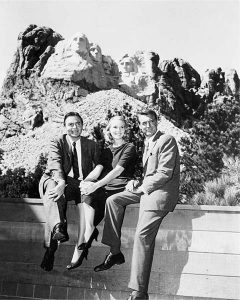 James Mason, Eva Marie Saint, Cary Grant at Mount Rushmore