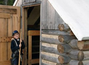 boy at Civil War Adventure Camp