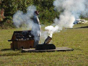 Civil War cannon simulation