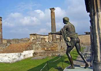 restored area of Pompeii