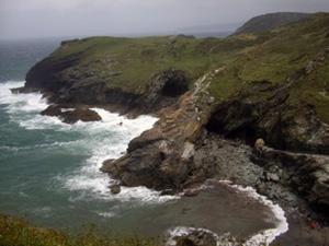 Cornwall coast at Tintagel