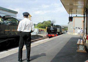 Paignton and Dartmouth Steam Railway platform