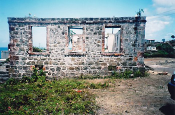 remains of old naval hospital