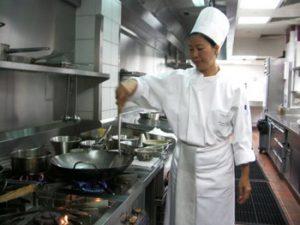 Thai chef in kitchen