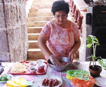Filipino cooking demonstration