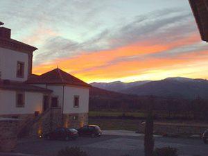 sunset in Avila, Spain