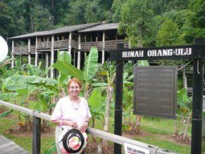 the author at Sarawak Cultural Village in Santubong, Sarawak