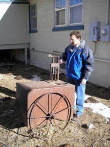 the author in Casper, Wyoming