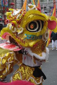 head of Chinese dragon costume