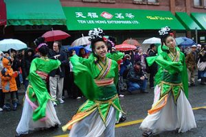 Chinese dancers in Vancouver parade