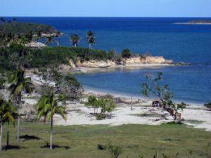 beach at Bariay Bay, Cuba