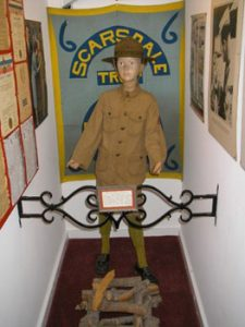 Boy Scouts display in Casements museum