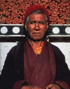 Tibetan monk at Thikse monastery