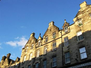 row of Georgian townhomes in Edinburgh's Charlotte Square