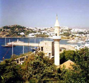 Fethiye harbor and city
