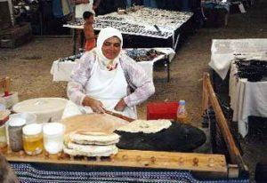 woman making gozleme