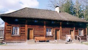 exterior of Fort Langley, BC
