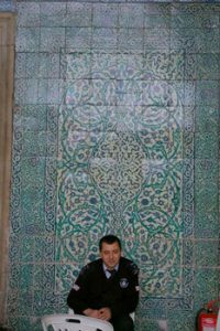 ceramic tiles on Istanbul wall
