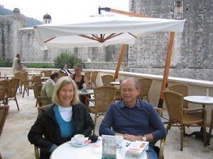the author and her husband in Italy
