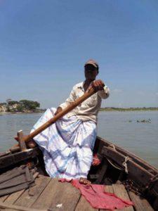 boatman on river