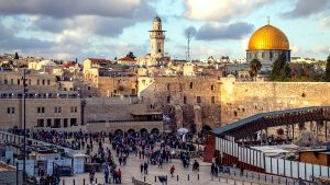 Jerusalem, with the Western wall and Dome of the Rock