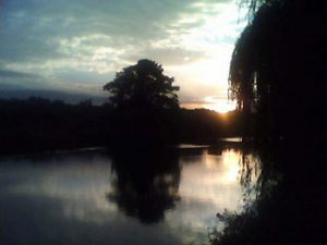 sunset over the Aire