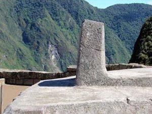 Intihuatana stone at Machu Picchu