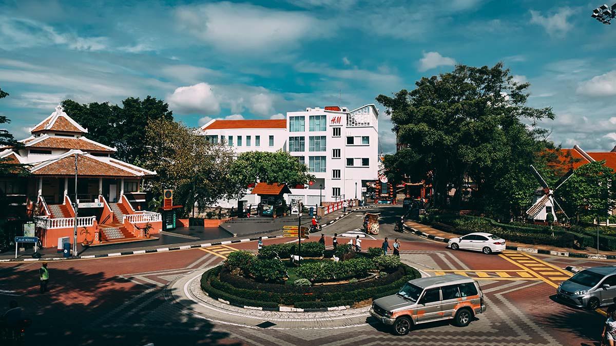 roundabout in Malacca, Malaysia