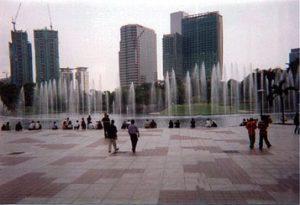 fountain in Kuala Lumpur city park