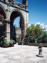 monastery garden in Neo Mystra