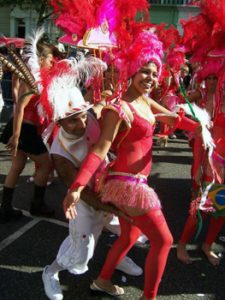 couple dancing in Notting Hill Carnival