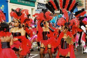 parade of costum wearing people