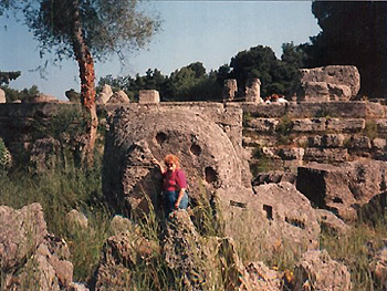 the author at Olympia, Greece