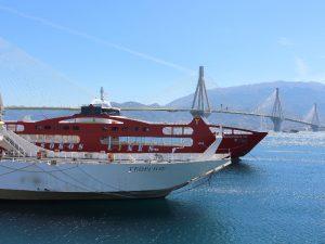 boat in Patmos harbor