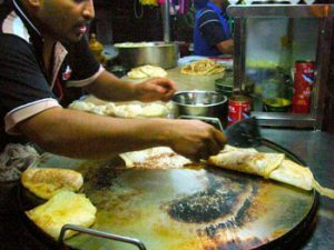 cooking Malaysian roti
