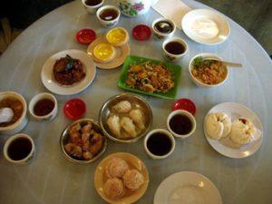 array of dim sum foods