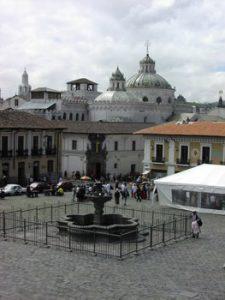 fountain in Quito square