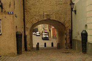 gate in Riga city wall