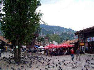 Sarajevo old town square